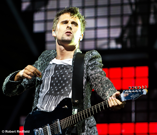Matthew Bellamy, frontman for  Muse  at Outside Lands 2011.