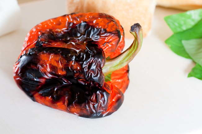 Beautifully charred red pepper makes the flesh sweet and juicy