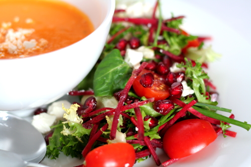 Soup & (a vibrant) salad