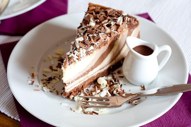 Triple Chocolate Cheesecake What the Fruitcake