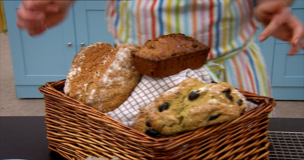 Will's bread basket, including his incredible Olive & Garlic Soda Bread