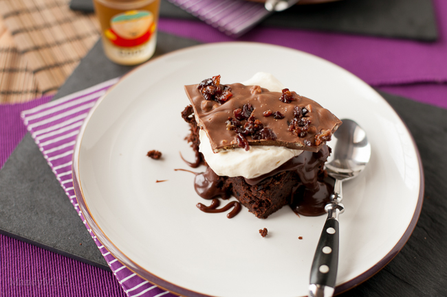 Bourbon Bacon Brownies — What the Fruitcake?!