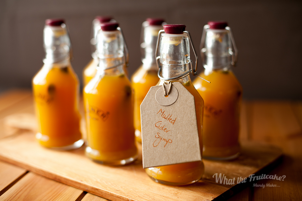 A gift with a difference. Spice infused syrup to add to cider for a delicious hot winter drink.