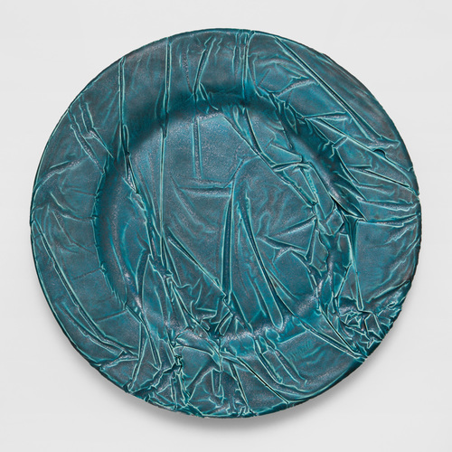 From the series Eccentric Plates, Copper Plate 2014. Hand-made ceramics. Ø 18 cm - 27,5 - 32 cm