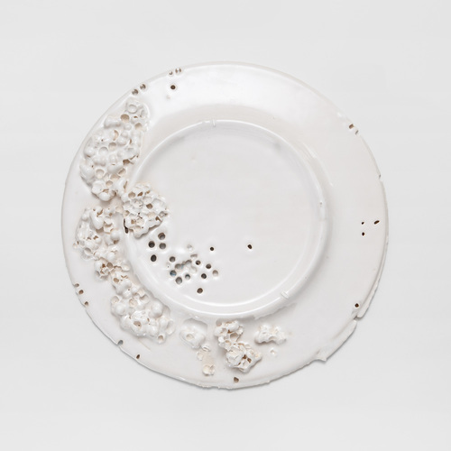 From the series Eccentric Plates, Quid Feci? Plate 2014. Hand-made ceramics. Ø  32 cm