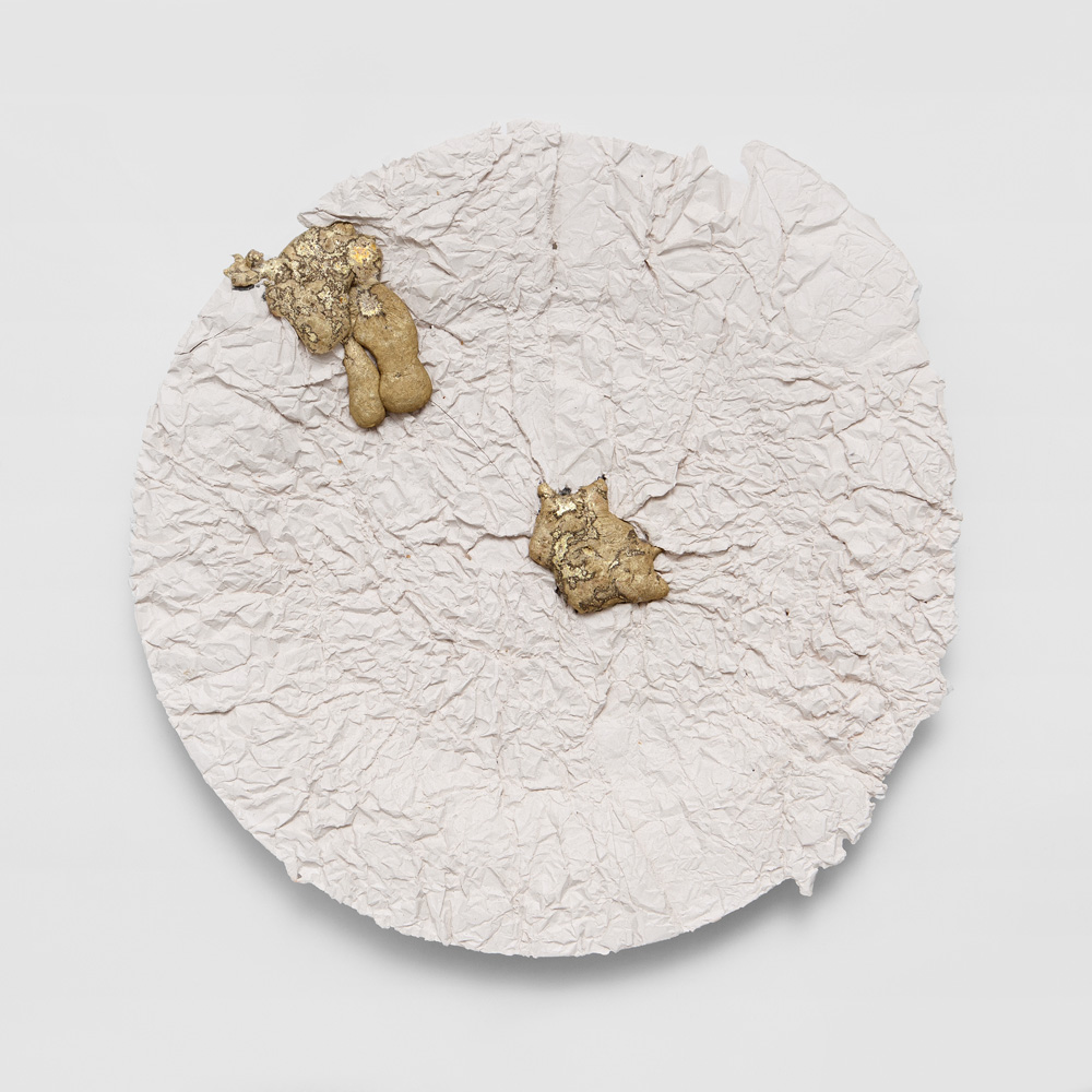 From the series Eccentric Plates, Wrinkled Plate 2014. Hand-made ceramics. Ø 29 cm