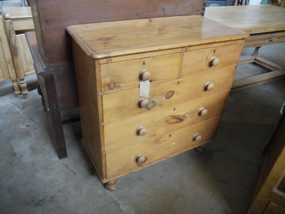62 - Victorian pine chest of drawers