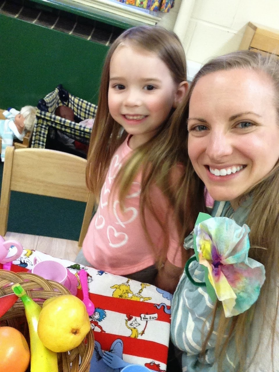 My first crutch-free outing: Mom's Night at Preschool