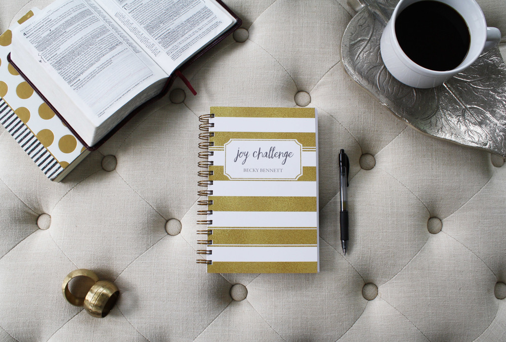 Joy Challenge , the all-in-one Bible study and devotional journal, is here!