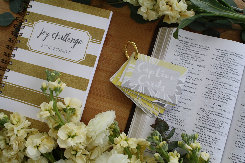To Choose Joy_Joy Challenge_Women's Bible Study_Captive Cards_Becky Bennett