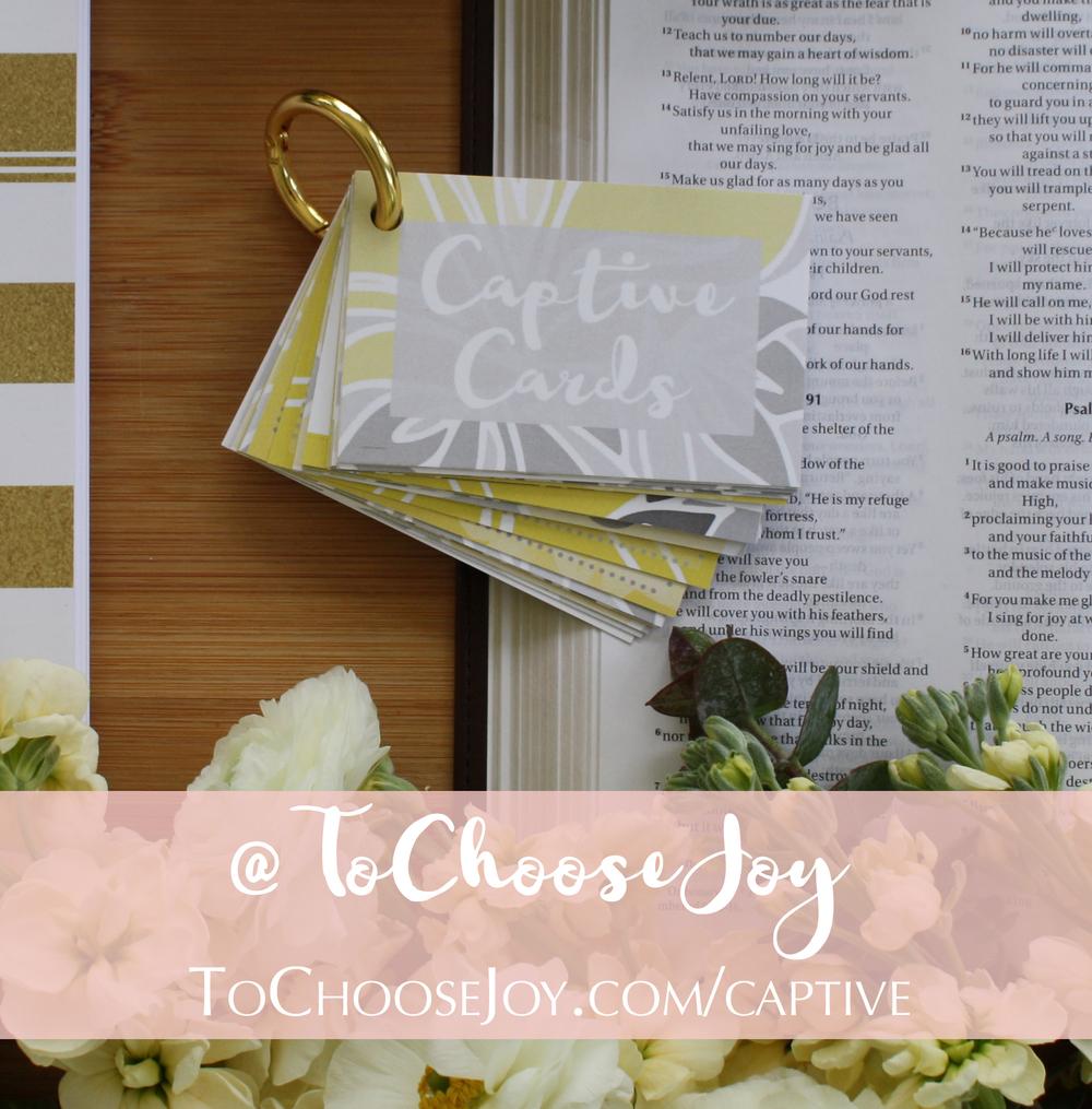 To Choose Joy_Becky Bennett_Captive Cards_Bible Study_Scripture