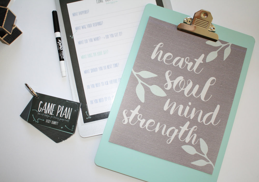 Game Plan_Deuteronomy 6_Becky Bennett_Heart Soul Mind Strength