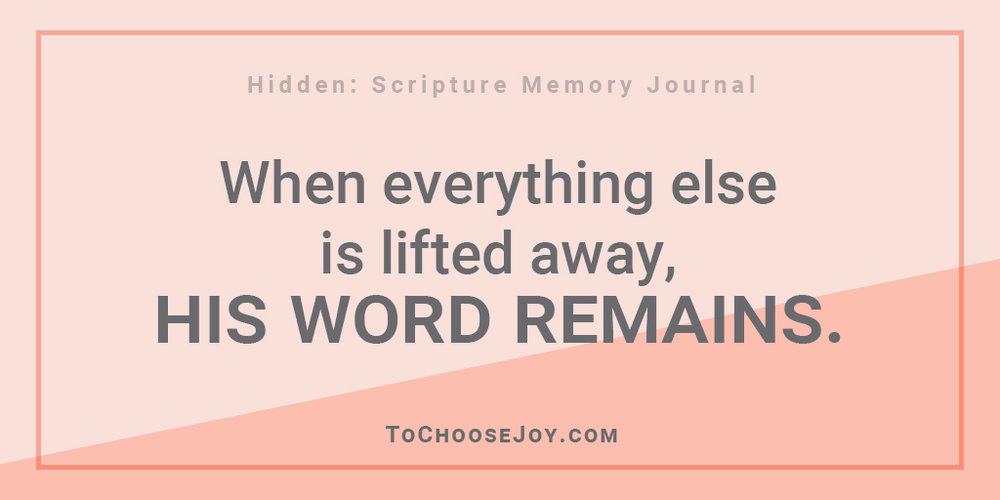 Hidden Scripture Memory Journal_God's Word remains_Becky Bennett