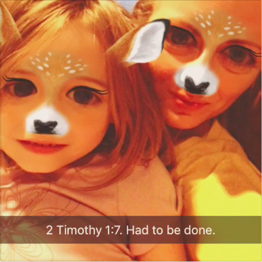 Just a clip of one of my little ones, practicing a verse on Snapchat...