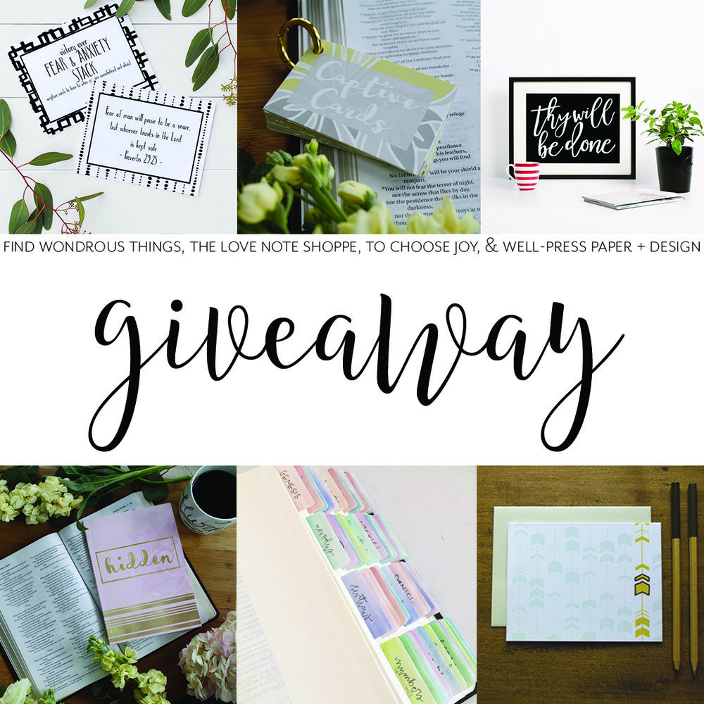 Giveaway_To Choose Joy_The Love Note Shoppe_Well-Press Paper_Find Wondrous Things