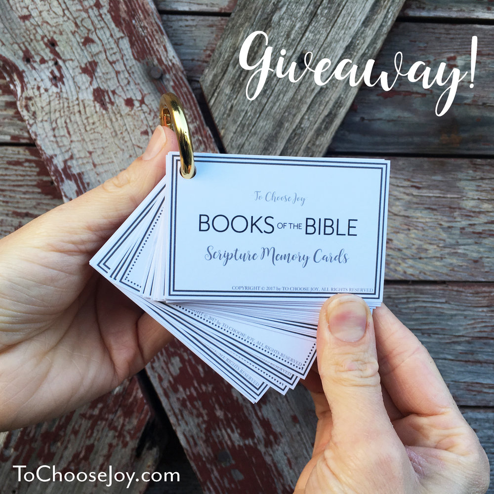 Scripture Memory Cards_Giveaway_Free Printable_Books of the Bible_To Choose Joy