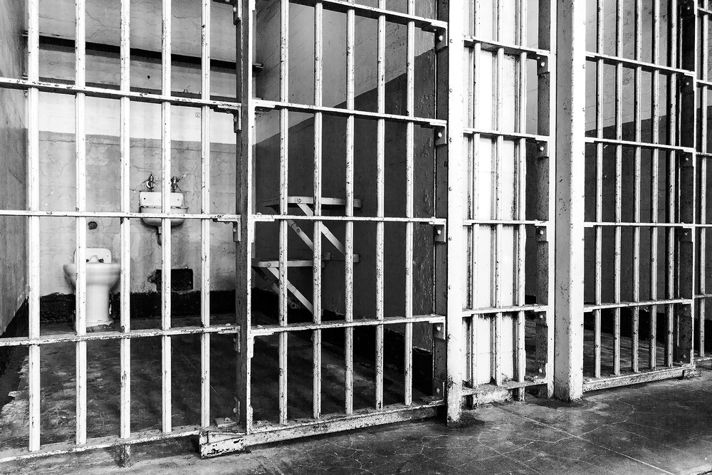 A cell in the Alcatraz prison.