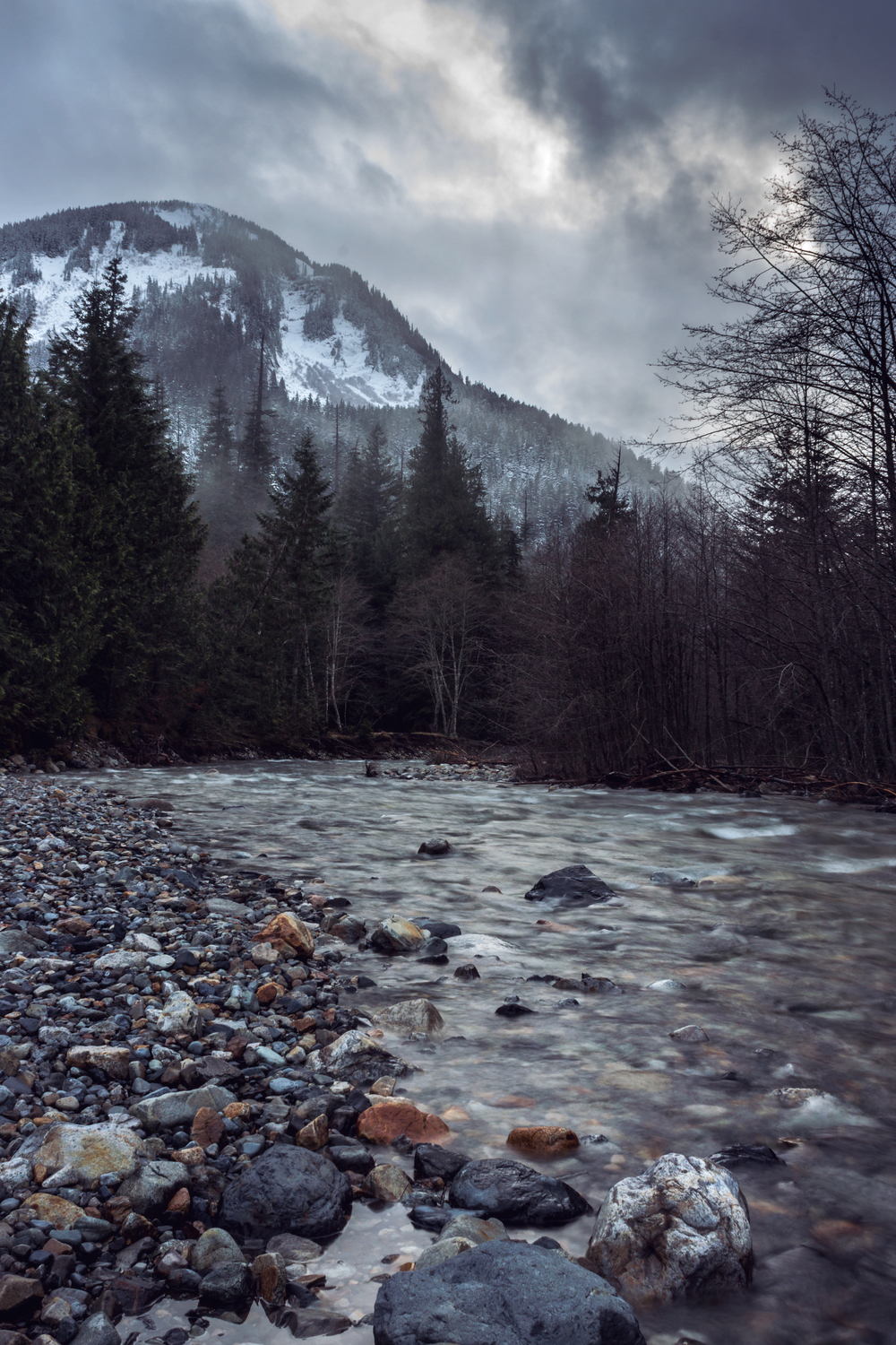 Stream in the Cascade Mountains near Snoqualmie Pass, WA.