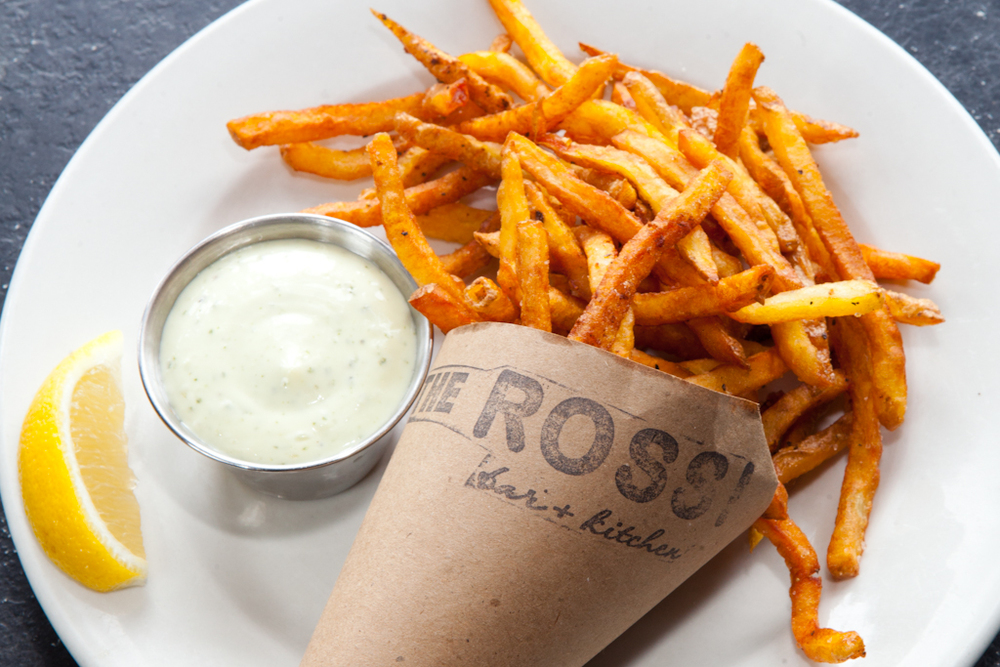 YUKON GOLD FRIES  Lemon-basil aioli