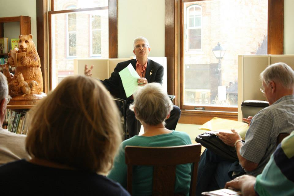Steve leading a session at the South West Wisconsin Book Festival