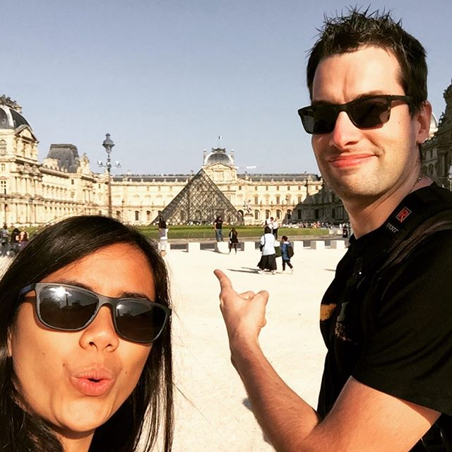 #teamjerice catching some evening sun at the #Louvre #NoTimeForYouThisTime