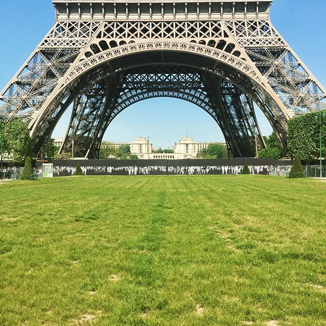 The magnificent Eiffel Tower #TooTallForAPhoto #croppedmonument #ParisParis