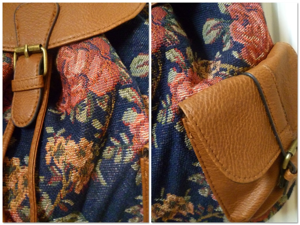 Here are a few close ups of the bag's details :)