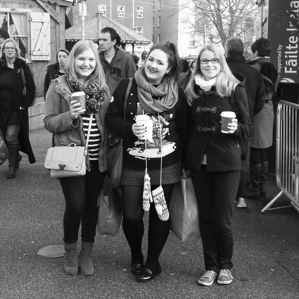 The gals and i at Galway Christmas market