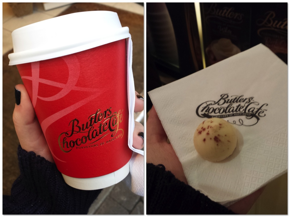 Can't have a shopping day with the girls without stopping off for a Butler's hot chocolate!