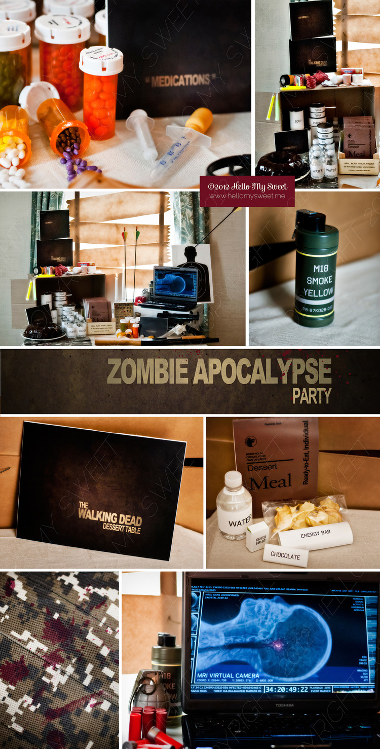 Zombie party ideas zombie party supplies 3 - Walking Dead Zombie Halloween Party Hello My Sweet