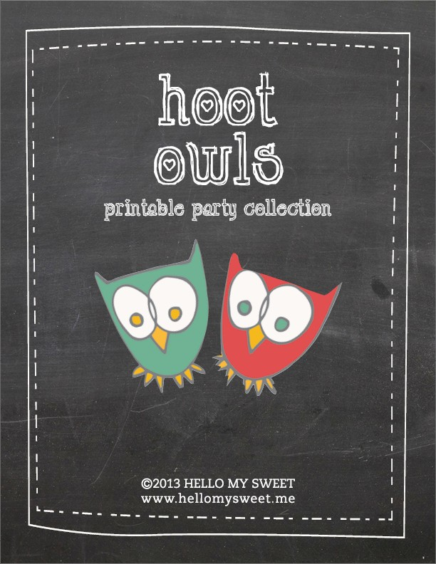 Click to download the Hoot Owl printable PDF.