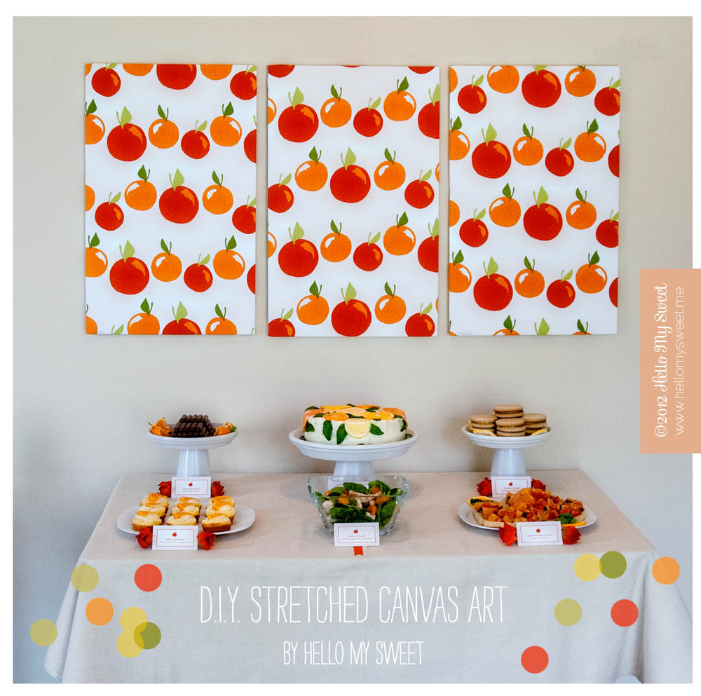 sweet diy stretched canvas art hello my sweet