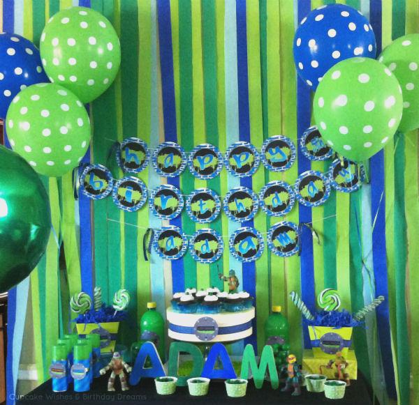 Teenage Mutant Ninja Turtle Party Sweets Table.jpg