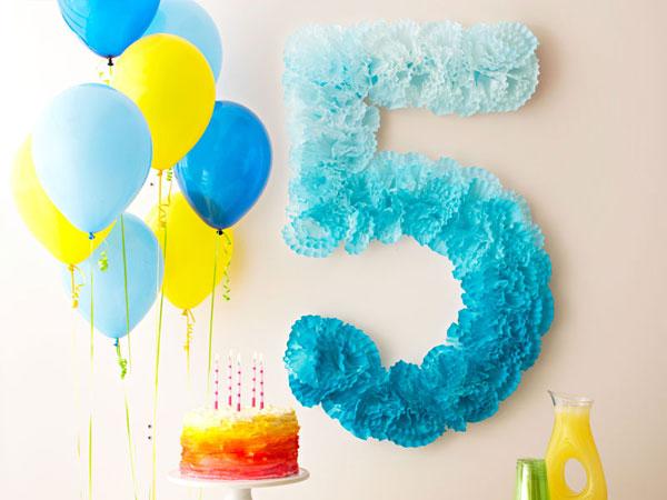 Украшения к дню рождения ребенка своими руками
