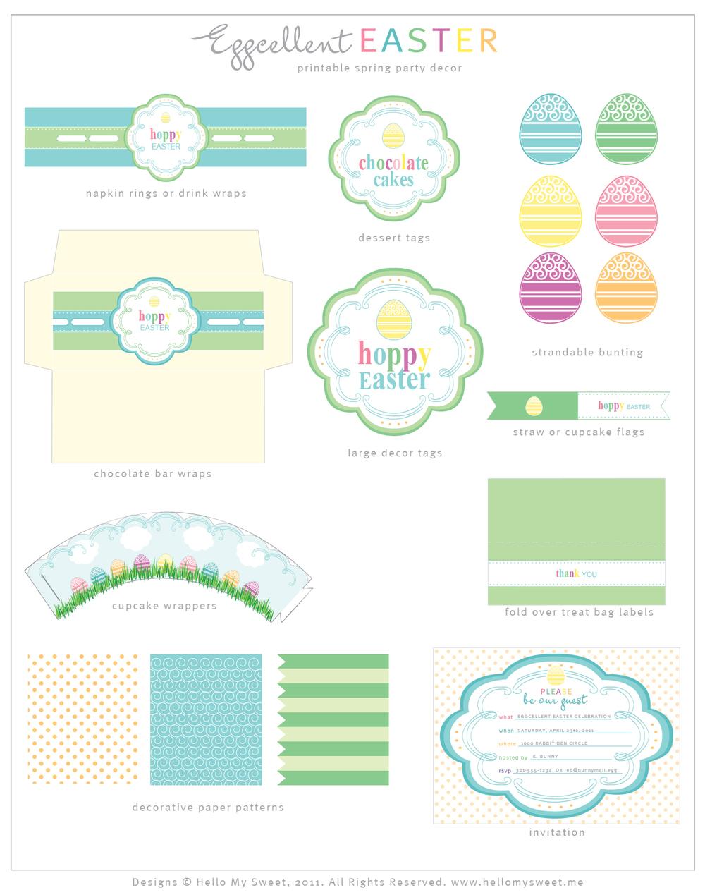 Sweet Freebies: Download Free Easter Dessert Table Printables ...