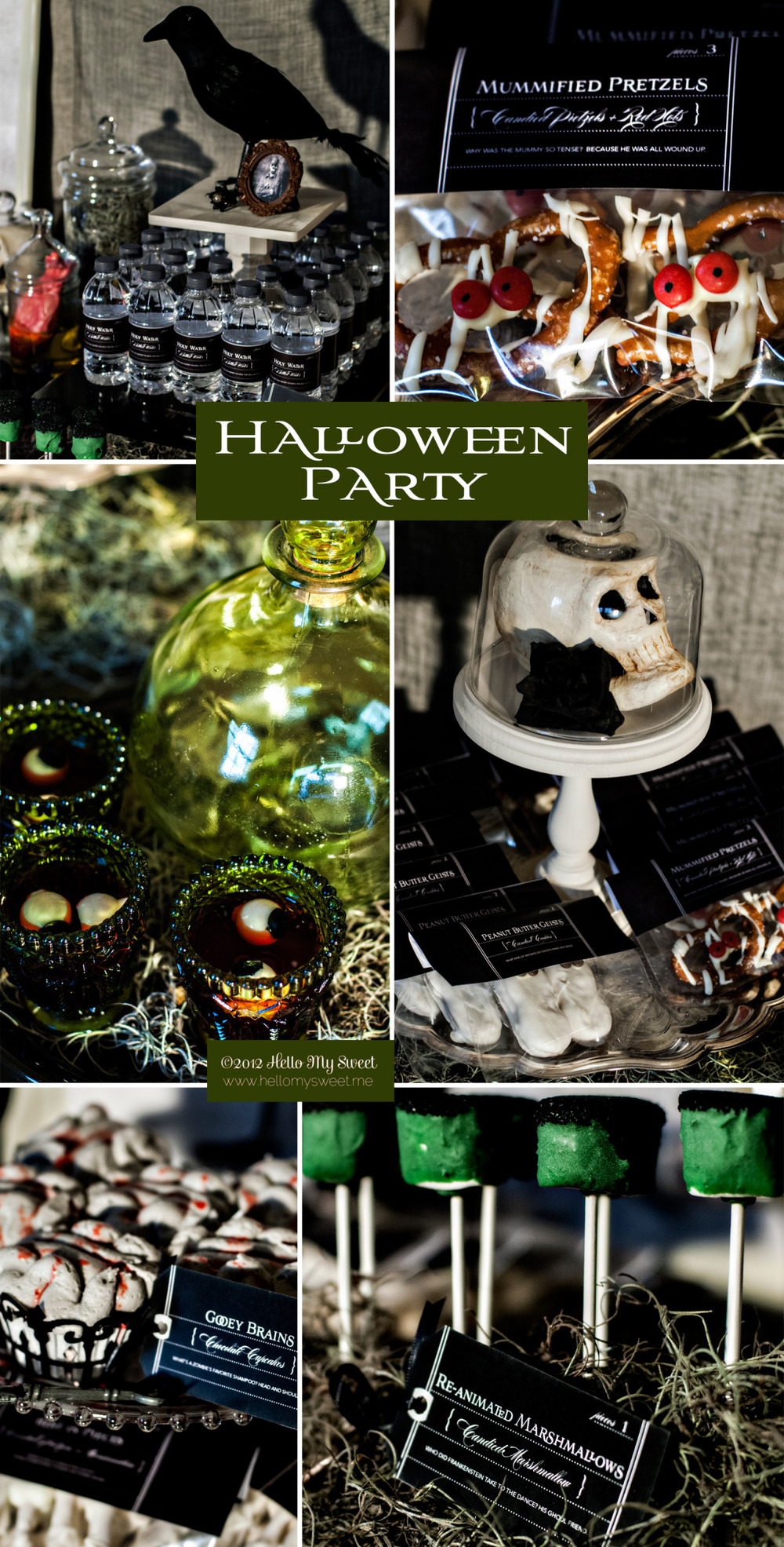 Spooky Gothic Halloween Party or Trick or Treat Display