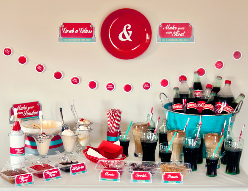 Retro 50s diner party hello my sweet for 50 s party decoration