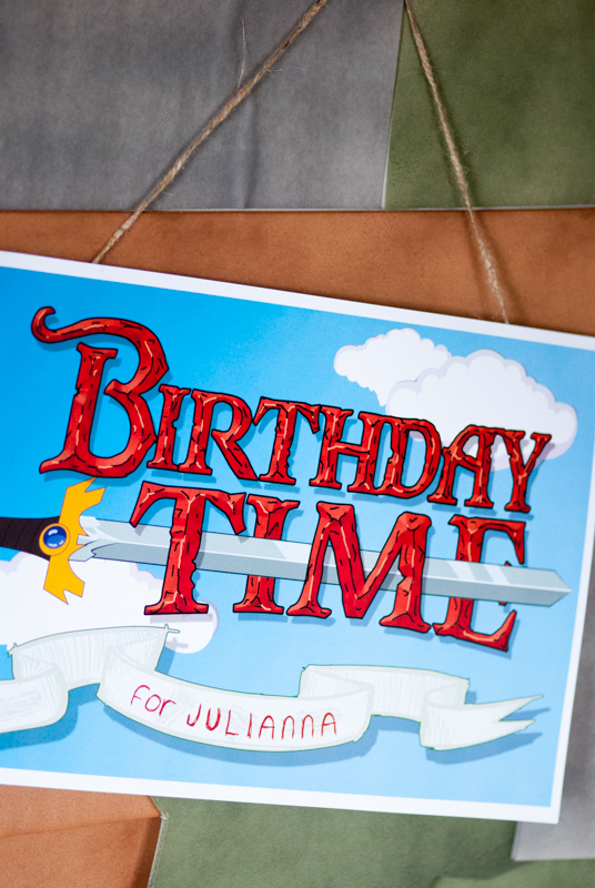 Adventure Time birthday party