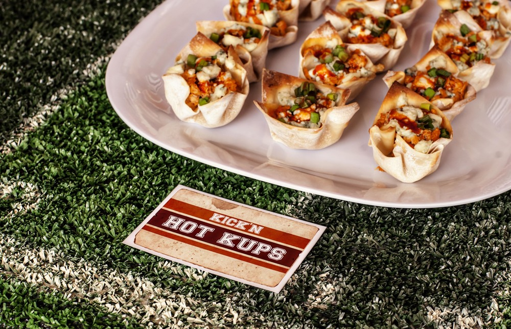 kickin hot buffalo chicken cups