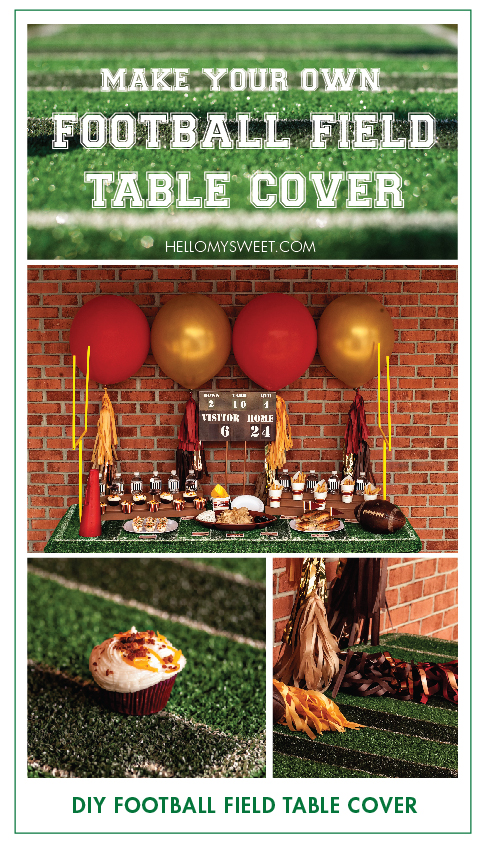 football field table cover hello my sweet