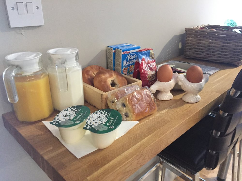 Delicious continental breakfast to be enjoyed privately in your room