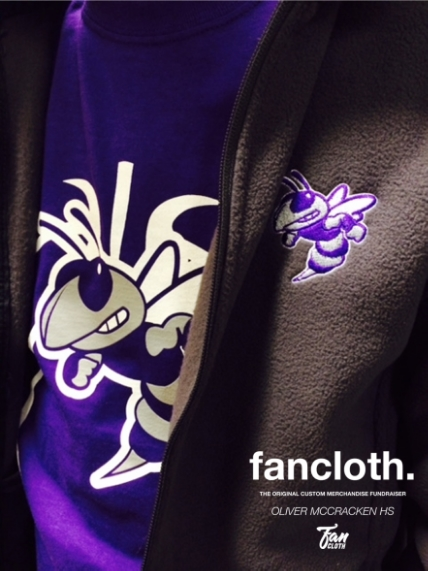 "Closer look at ""Oliver McCracken High School"" fan apparel. see more fancloth"