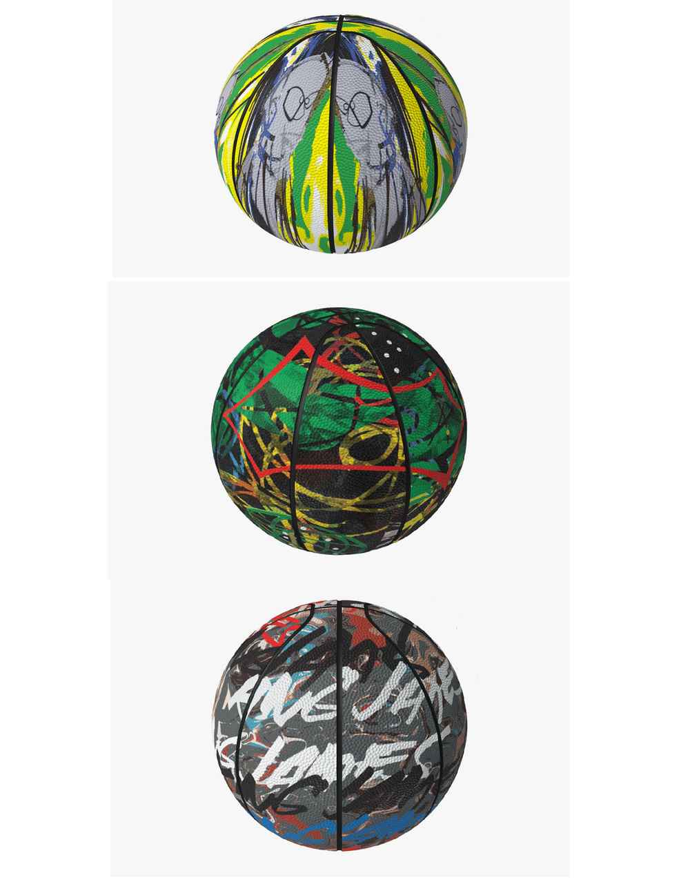 "Sprite and legendary artist Futura have partnered this NBA All-Star Weekend to create three uniquely designed basketballs that bring together the sport of basketball and street culture. The basketballs include three one-of-a-kind designs: ""King James"" which was created in collaboration with LeBron James, ""Double Dribbler"" which features Futura's signature style, and ""Leave Your Mark"" which was inspired by Sprite's self-expressive platform. After NBA All-Star Weekend comes to an end, the basketballs will be up for auction so that fans can fairly bid on them. Proceeds will benefit Boys & Girls Clubs of America. READ MORE:highsnobiety."