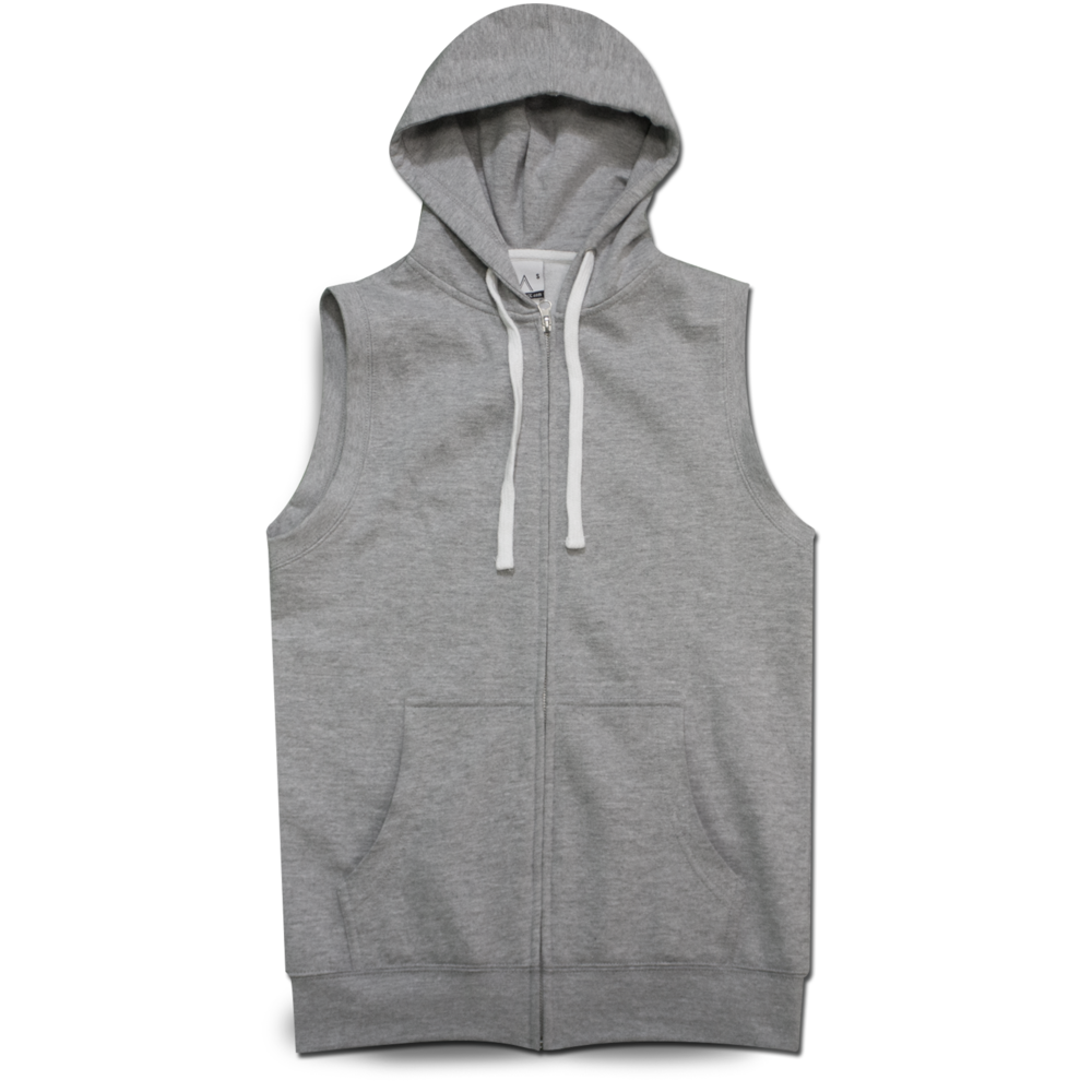 SLEEVELESS HOODIE FULL-ZIP 60% COTTON / 40% POLYESTER Size Chart