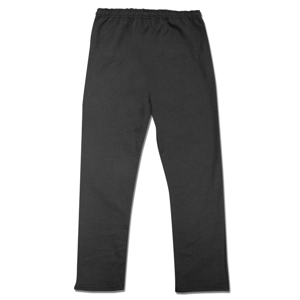 SWEATPANTS    FLEECE OPEN BOTTOM PANTS    50% COTTON / 50% POLYESTER    Size Chart