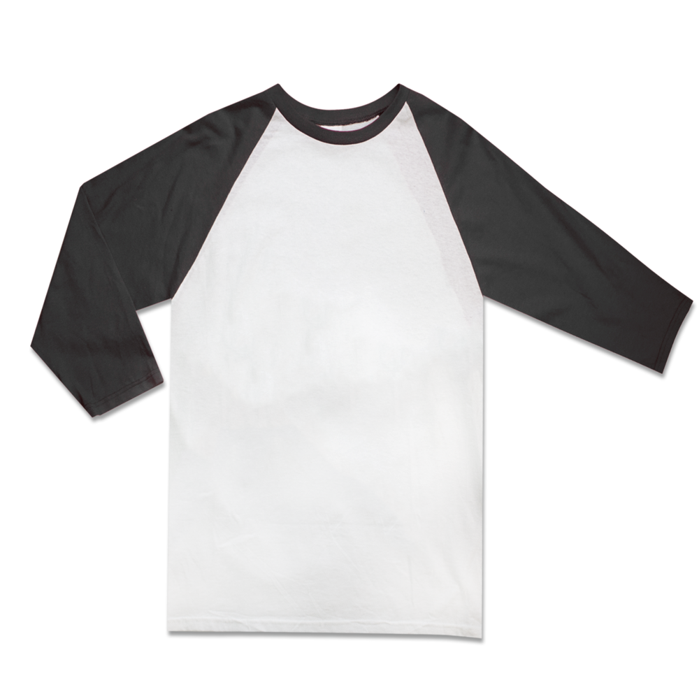RAGLAN    3/4 SLEEVES    100% PRESHRUNK COTTON    Size Chart