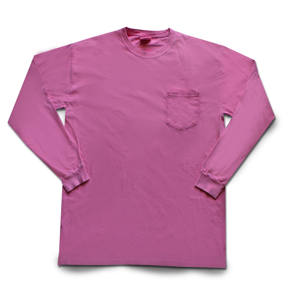 COMFORT COLORS WITH FRONT POCKET 100% RINGSPUN COTTON Size Chart
