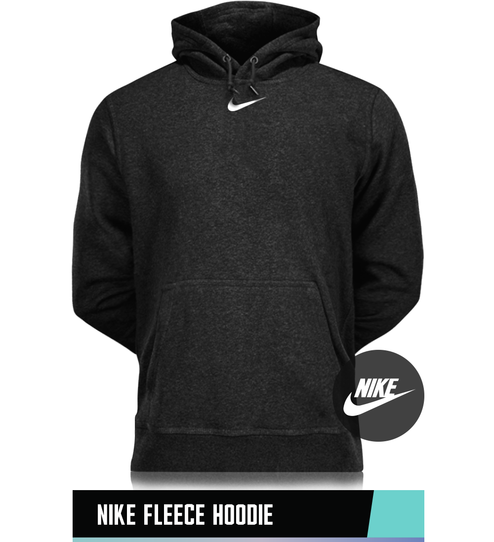 NIKE FLEECE HOODIE 75% COTTON / 25% POLYESTER SIZE CHART