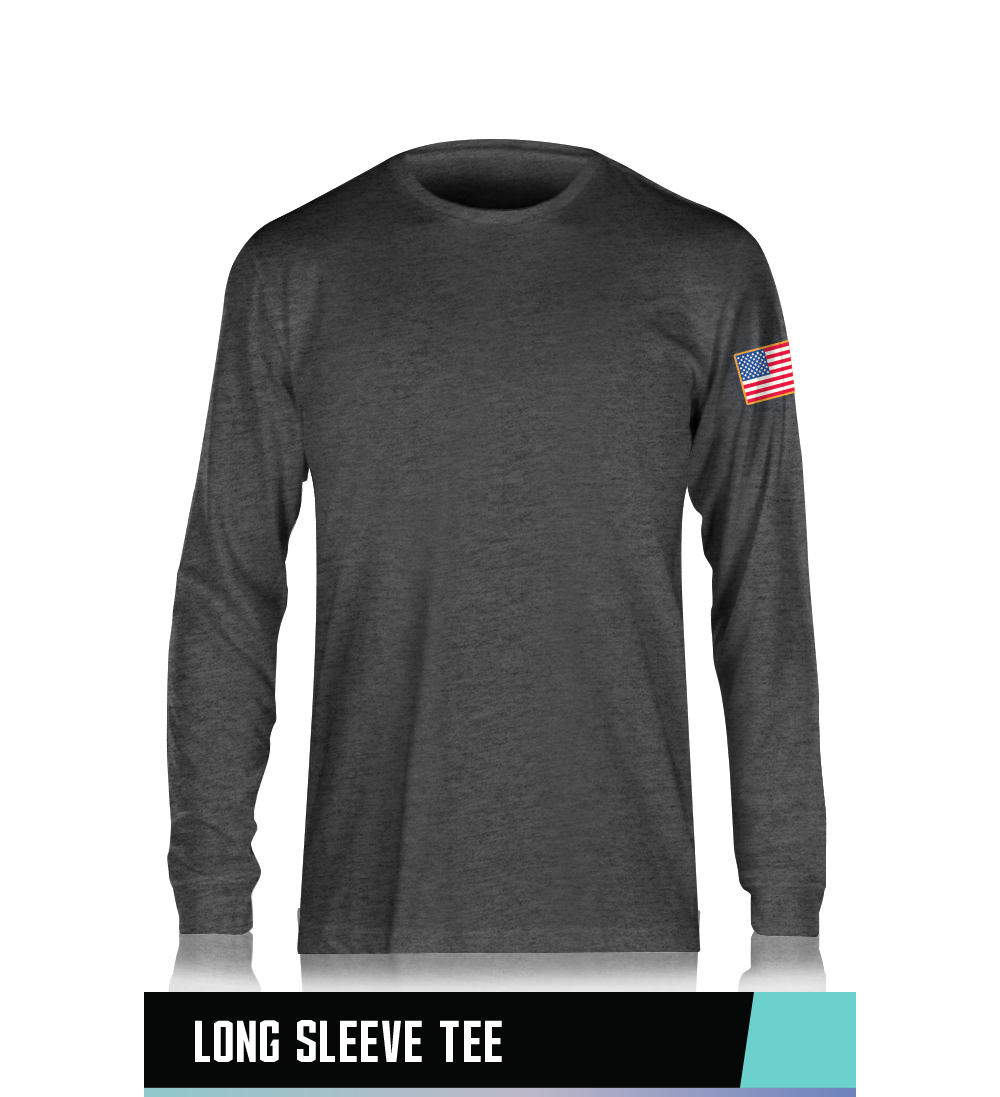 LONG SLEEVE TEE 100% PRESHRUNK COTTON SIZE CHART
