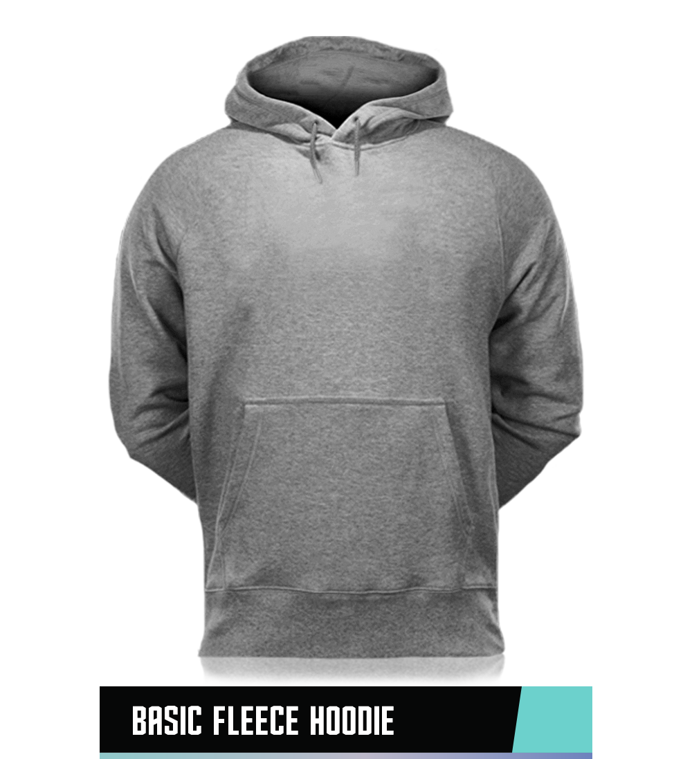 CLASSIC FLEECE HOODIE 50% COTTON / 50% POLYESTER SIZE CHART